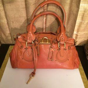 Chloe Paddington Orange Leather-No Padlock